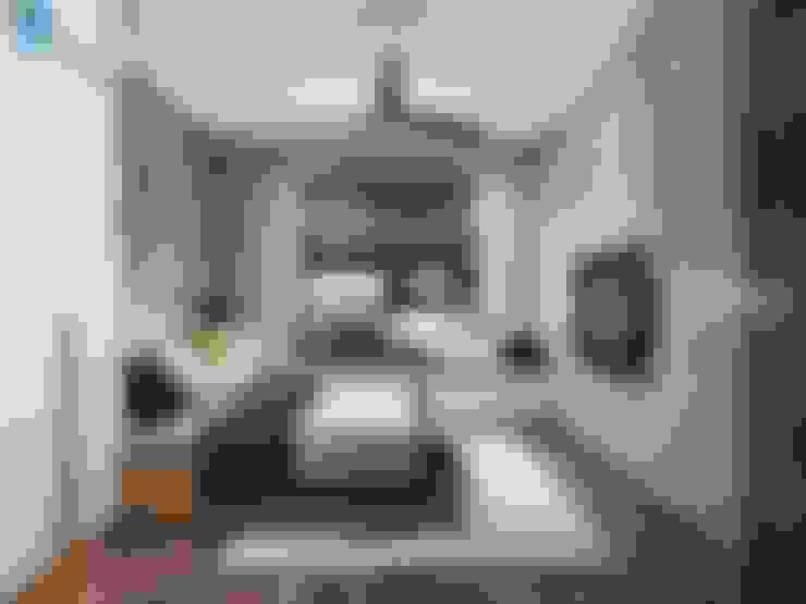 Thiết kế nội thất căn hộ chung HaDo Centrosa Garden 86m2 có 2 phòng ngủ - Cô Hồng, Quận 10, TP.HCM:  Phòng ngủ nhỏ by Công ty TNHH Nội Thất Mạnh Hệ