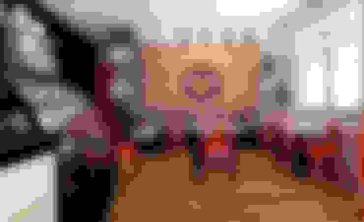 PROYECTO CAFETERIA RED HEAD COFFEE SHOP : Restaurantes de estilo  por NF Diseño de Interiores