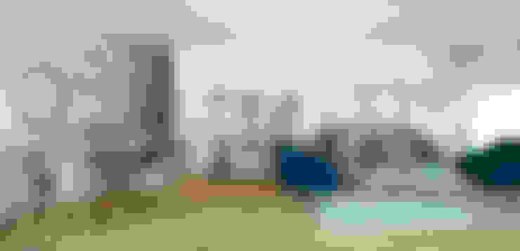 Propuesta Sala y Comedor: Salas / recibidores de estilo  por NF Diseño de Interiores