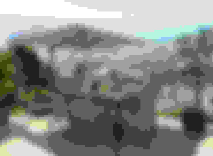 Diseño 3D terraza moderna :  de estilo  de Glancing EYE - Asesoramiento y decoración en diseños 3D