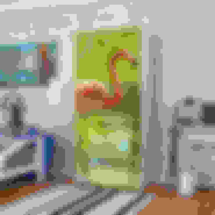 Candy Mobilyam – Pembe Flamingo Resimli İki Kapaklı Gardırop:  tarz Yatak Odası
