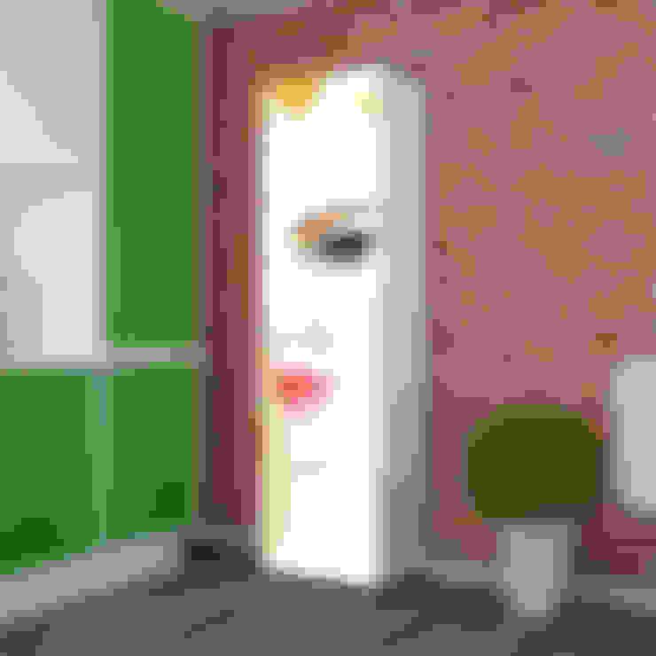 Candy Mobilyam – Vektörel Yüz Silüet Desenli 8 Raflı Çok Amaçlı Dolap:  tarz Oturma Odası