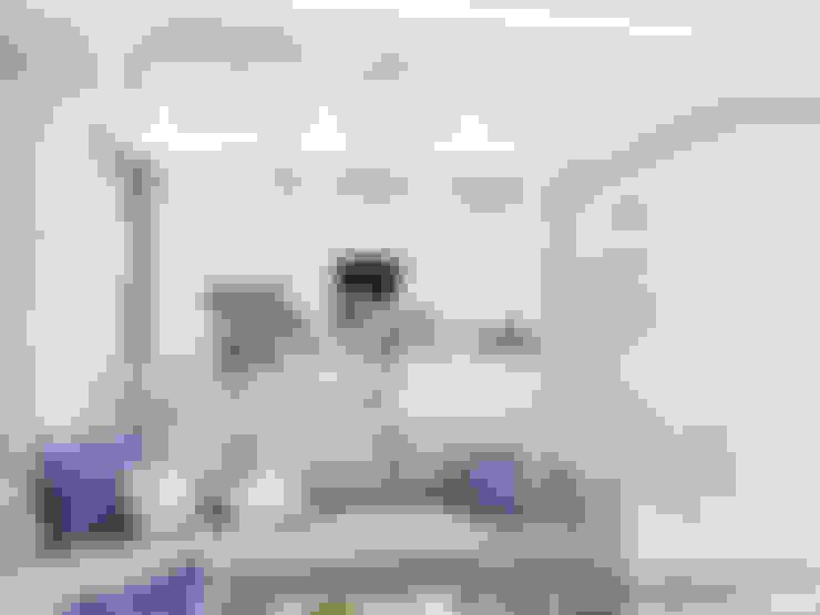 ห้องนั่งเล่น by Студия дизайна интерьера Натали