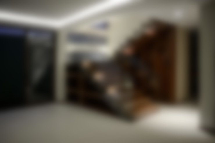 Corredor, vestíbulo e escadas  por GRUPO WALL ARQUITECTURA Y DISEÑO SA DE CV