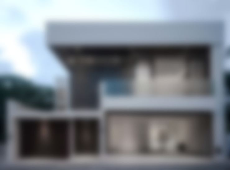 FACHADA VISTA DIURNA: Casas unifamiliares de estilo  por GRUPO WALL ARQUITECTURA Y DISEÑO SA DE CV