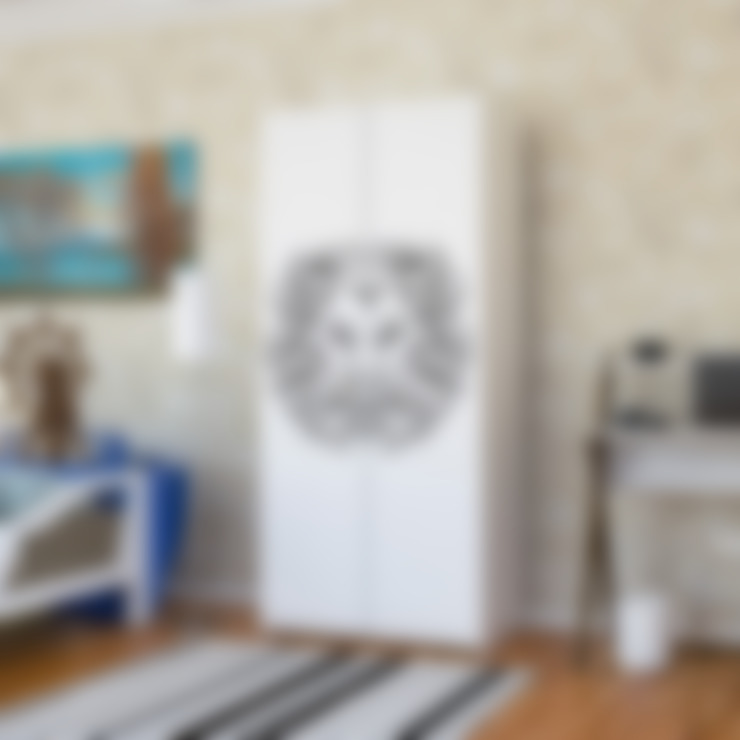 Candy Mobilyam – Aslan Burcu Resimli Genç Odası Gardırop:  tarz Yatak Odası