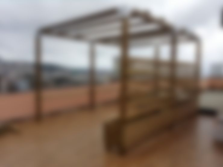 Fioriera LINEA PROFESSIONALE 150 x 50 x 46 h. cm: Giardino in stile  di ONLYWOOD