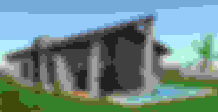SKY İç Mimarlık & Mimarlık Tasarım Stüdyosu – Taş ev dış cephe:  tarz Kır evi