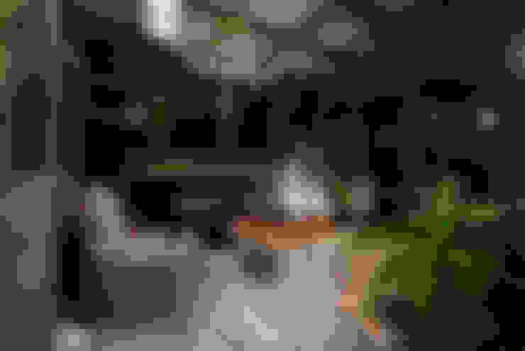 燈光開啟後特別有浪漫的氣息:  室內景觀 by 大地工房景觀公司