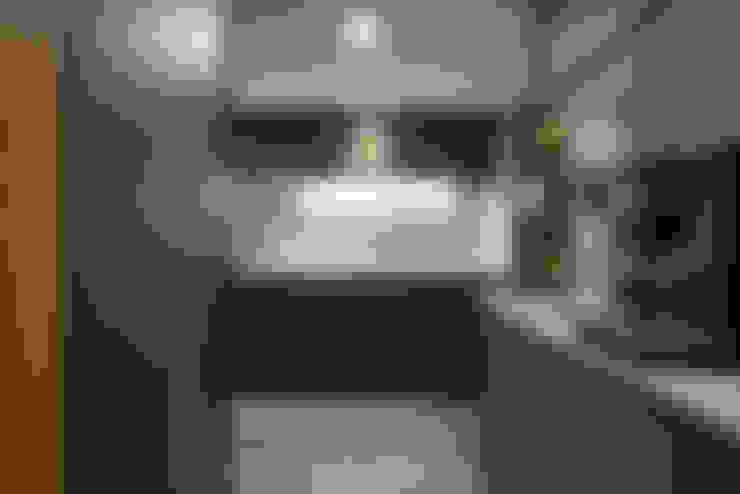 一字型的廚房:  置入式廚房 by 竹村空間 Zhucun Design