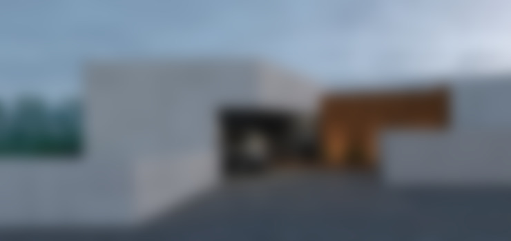 alçado principal - entrada na casa: Casas passivas  por Limit Studio