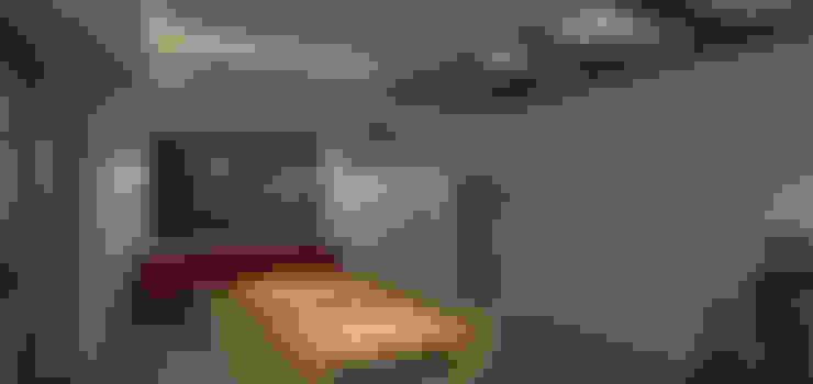 interior - sala comum: Salas de estar  por Limit Studio