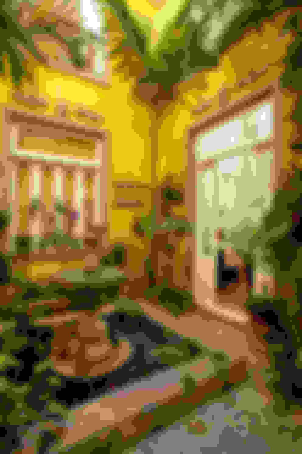 Casa de Campo Helvetia: Jardins de inverno  por Marcelo Bicudo Arquitetura