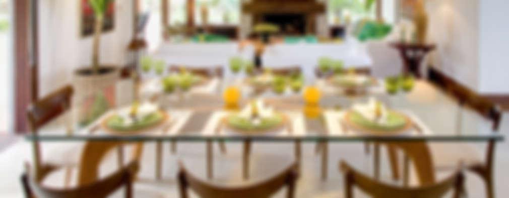 eclectic Dining room by Maria Christina Rinaldi Arquitetos