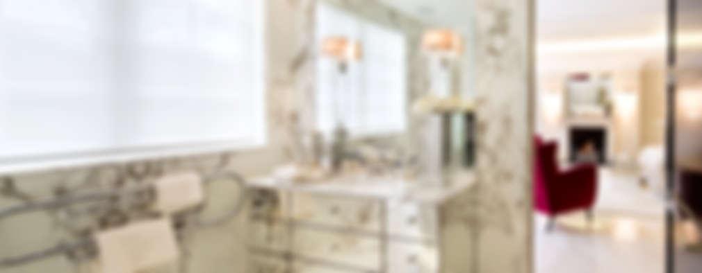 Projekty,  Łazienka zaprojektowane przez Celia Sawyer Luxury Interiors