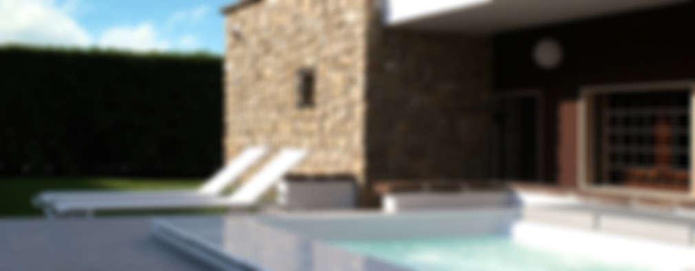 Albercas de estilo moderno por GRITTI ROLLO | Stefano Gritti e Sofia Rollo