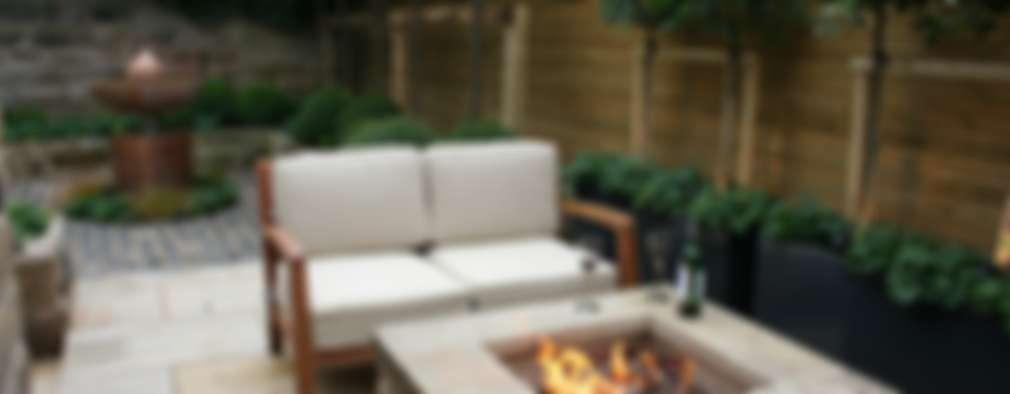 Chimeneas y fogatas para exterior - ¡8 ideas fantásticas!
