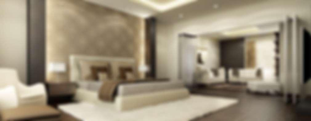 غرفة نوم تنفيذ Neeras Design Studio