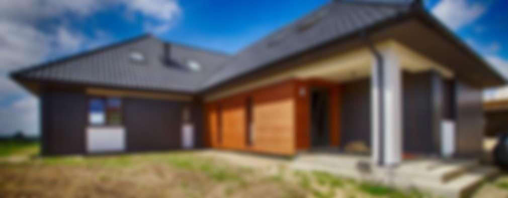 Casas de estilo moderno por Studio Projektowe Projektive