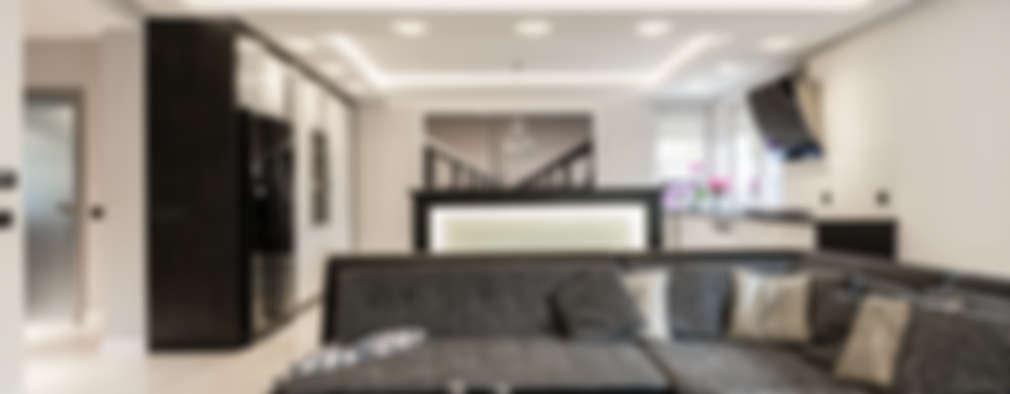 modern Living room by Agnieszka Makowska