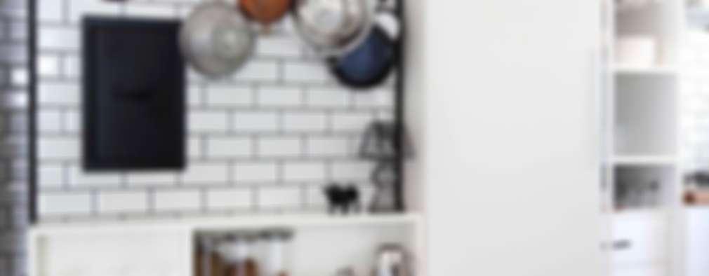 Cocinas de estilo industrial por HANDE KOKSAL INTERIORS