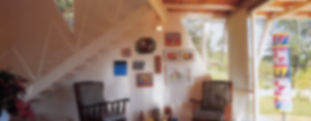 غرفة المعيشة تنفيذ JOAO DINIZ ARQUITETURA
