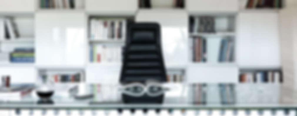 modern Study/office by Maisons Loginter