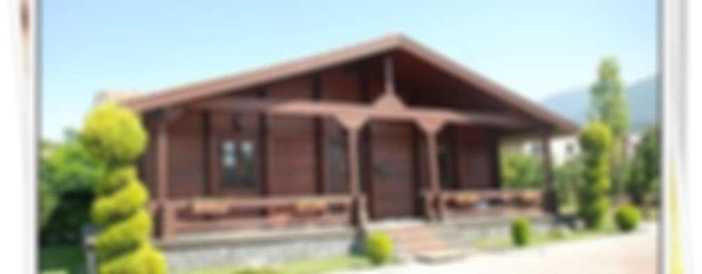 Projekty, rustykalne Domy zaprojektowane przez YEŞEREN AHŞAP DEKORASYON