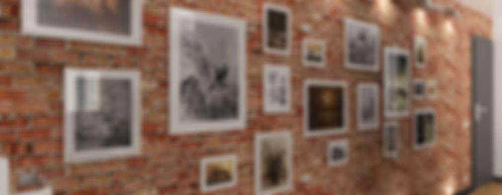 Pasillos y recibidores de estilo  por Дизайн студия Александра Скирды ВЕРСАЛЬПРОЕКТ