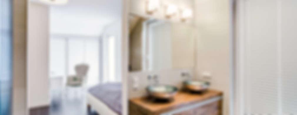 modern Bathroom by DK architektura wnętrz