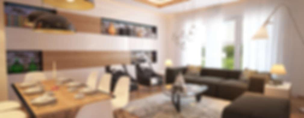 İNDEKSA Mimarlık İç Mimarlık İnşaat Taahüt Ltd.Şti. – İNDEKSA ÖRNEK DAİRE ÇALIŞMASI: modern tarz Oturma Odası