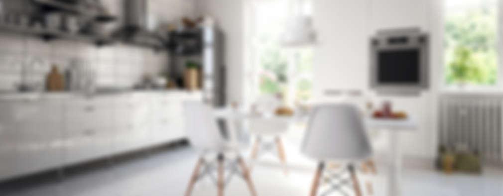 White  Modern High-Gloss Kitchen.:   by Piwko-Bespoke Fitted Furniture