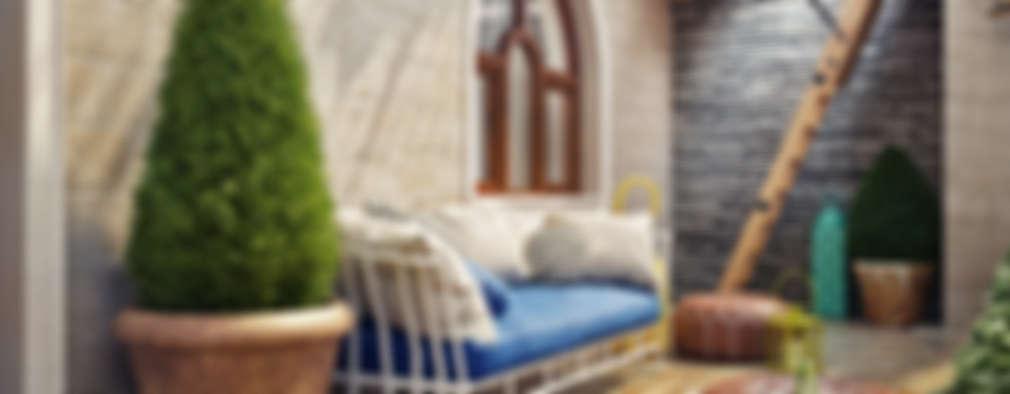 بلكونة أو شرفة تنفيذ Sweet Home Design