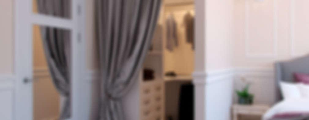 Vestidores y closets de estilo ecléctico por Студия дизайна интерьера Маши Марченко