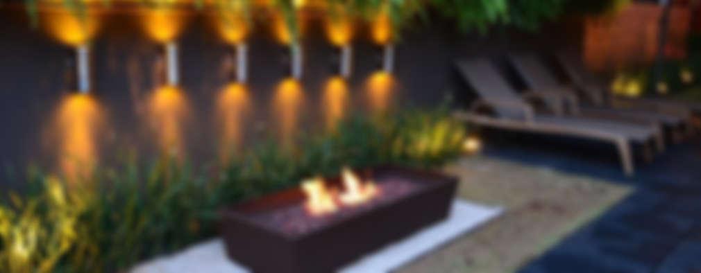 16 ideas para iluminar el exterior de tu casa y que se for Luces de exterior para jardin