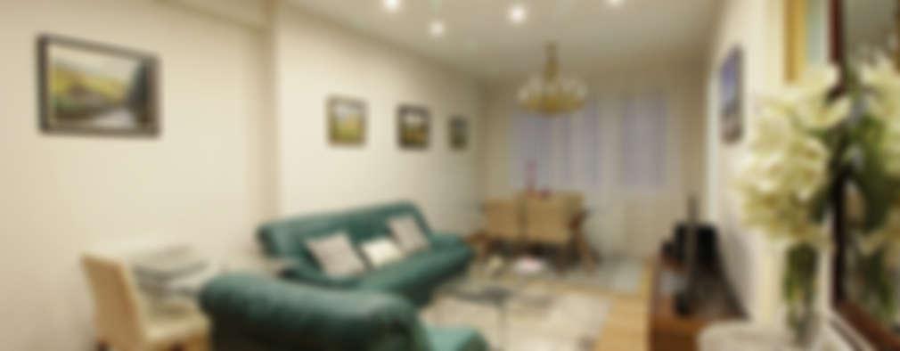 غرفة المعيشة تنفيذ Sweet Home Interiorismo