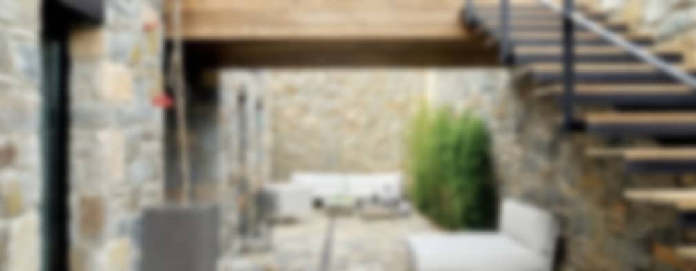 10 case in pietra che combinano stile rustico e moderno for Piani domestici contempory