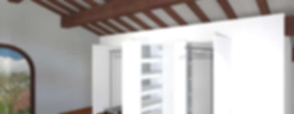 minimalistische Kleedkamer door Anna Leone Architetto Home Stager