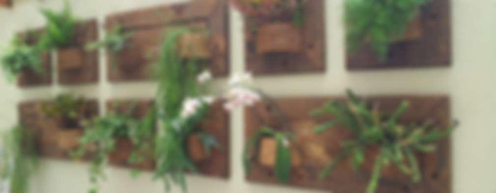 rustic Conservatory by A Varanda Floricultura e Paisagismo