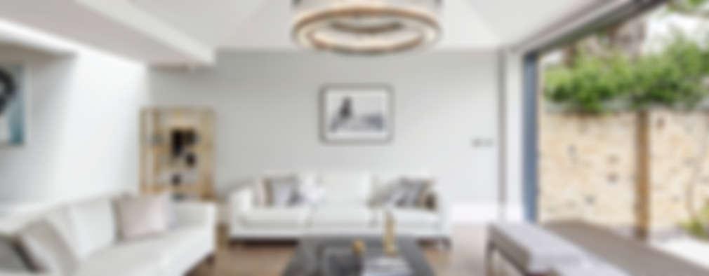 غرفة المعيشة تنفيذ Sophie Nguyen Architects Ltd