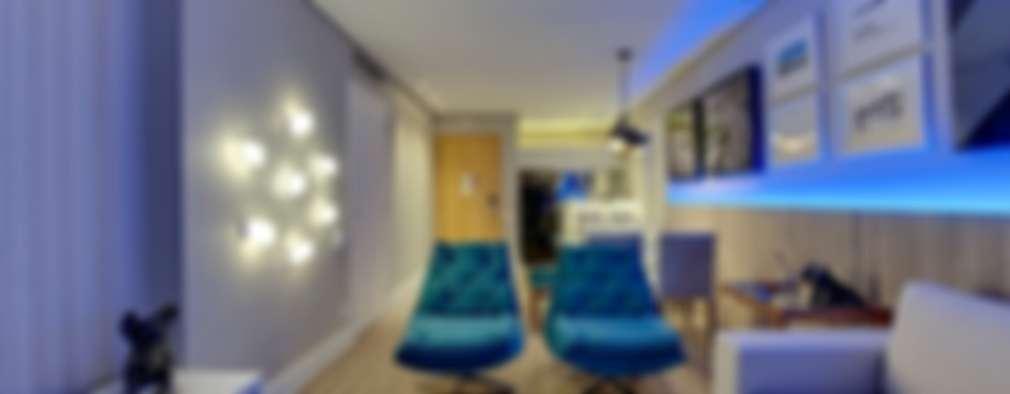 Salas / recibidores de estilo moderno por Guido Iluminação e Design