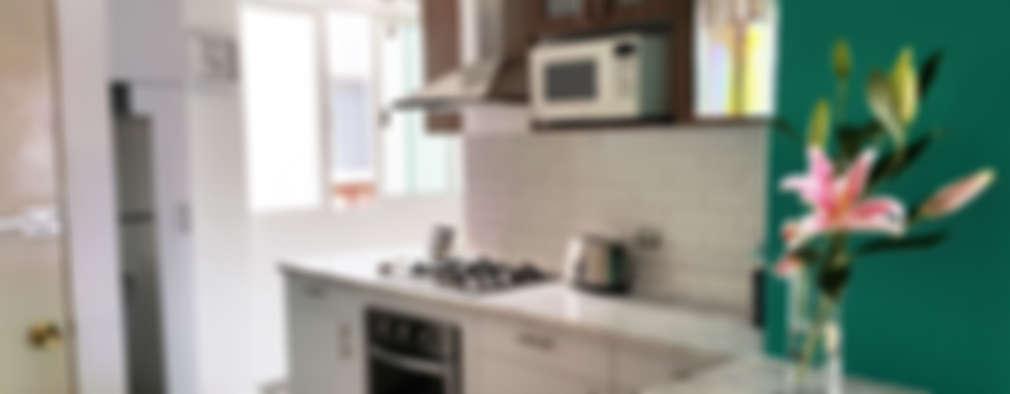 Cocinas de estilo moderno por Diseño Distrito Federal