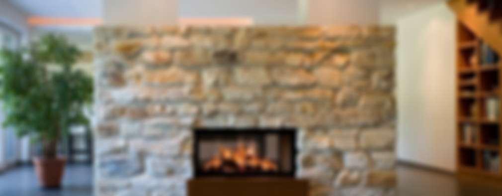 La calidez de 10 fascinantes chimeneas rústicas