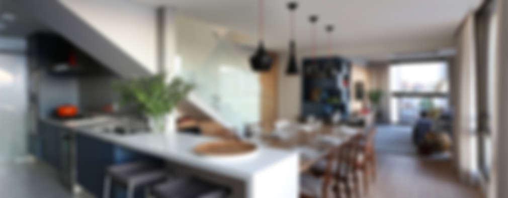 Comedores de estilo moderno por MANDRIL ARQUITETURA E INTERIORES