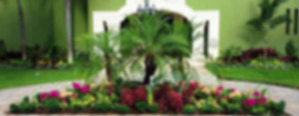 25 ideas de jardines para adornar la entrada de tu casa