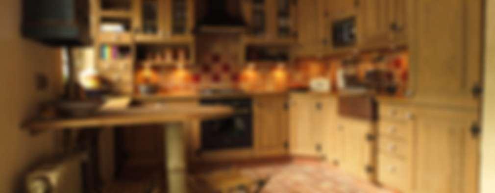 Cocinas de estilo rústico por Kamstar Krzysztof Fertała
