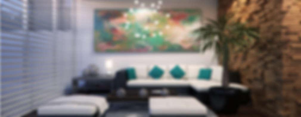 modern Living room by Lights & Shades Studios