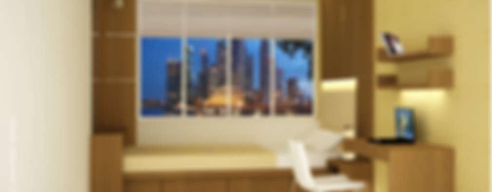 Bedroom Interiors - Small spaces: modern Bedroom by Preetham  Interior Designer