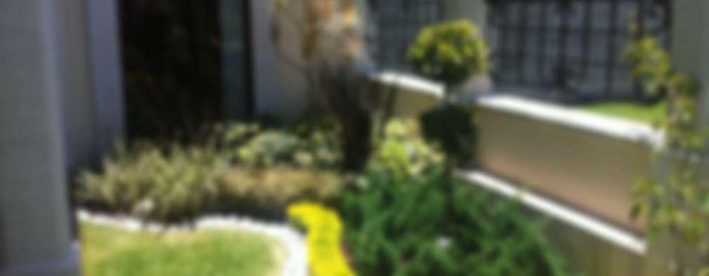 "Jardinera en esquina ""L"": Jardines de estilo mediterraneo por Vivero Sofia"