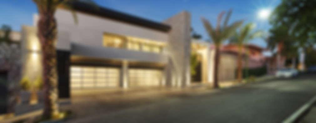 fachada principal casas de estilo moderno por juan luis fernndez arquitecto